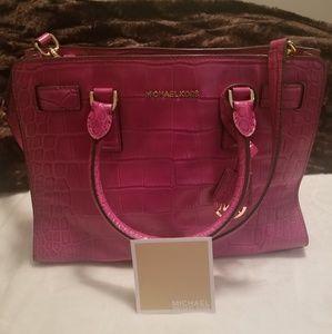 Michael Kors Dillon Croc Large Leather Handbag